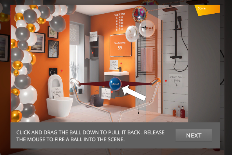 Virtual Worlds creates online game to celebrate 40 years of Ideal Bathrooms