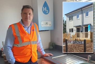 Baxi demonstrates hydrogen boiler in UK's first 'hydrogen house'