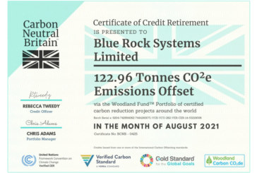 Blue Rock announces Carbon Negative status